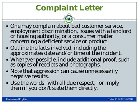 Bad Service Experience Letter Types Of Business Letters