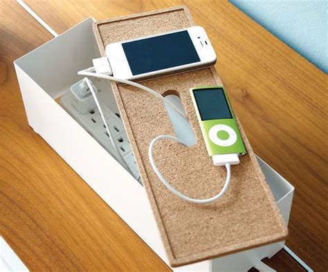 phone charging box organizing tip designate a phone charging hot spot chatelaine com