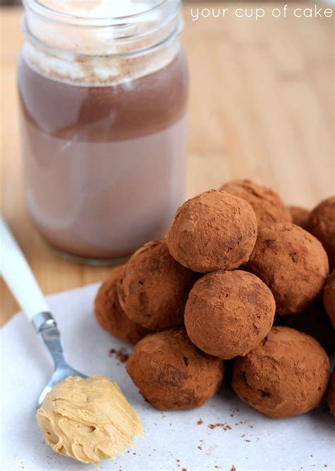 peanut butter hot chocolate truffles your cup of cake