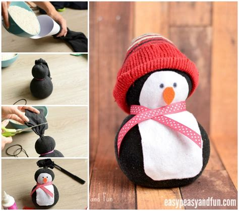 sock animals penguin no sew sock penguin craft easy peasy and