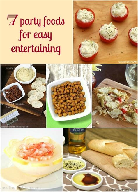 7 ideas for easy party food celebrations at home