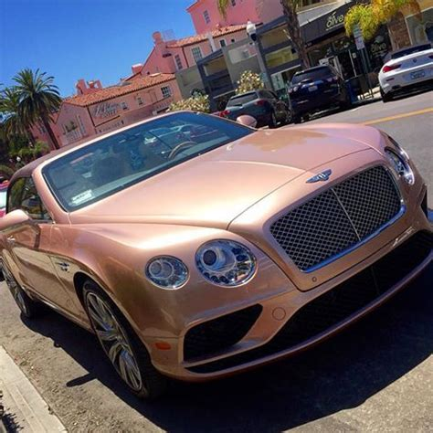 rose gold car rose gold bentley pink glam pinterest cars