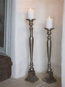 Floor Hurricane Candle Holders aged metal floor candle holders