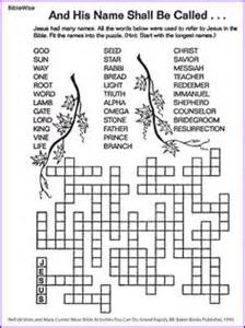these are easy crossword puzzles created to accompany the