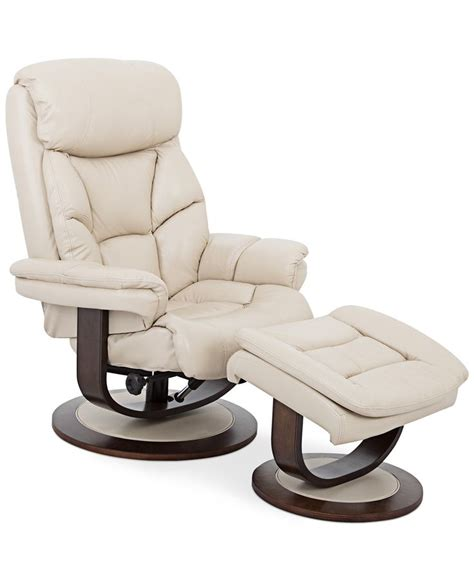 Reclining Leather Chair With Ottoman Aby Leather Recliner Chair Ottoman Recliner Chairs