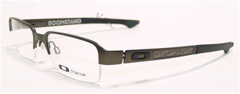 Eyeglass Frames Oakley Boomstand Ox5042 0352 Pewter 52mm Titanium Glas oakley boomstand eyeglasses prescription eye glasses