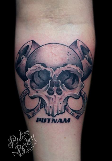 skull and piston tattoos skull and pistons tattoos by paulberkey tattoos by