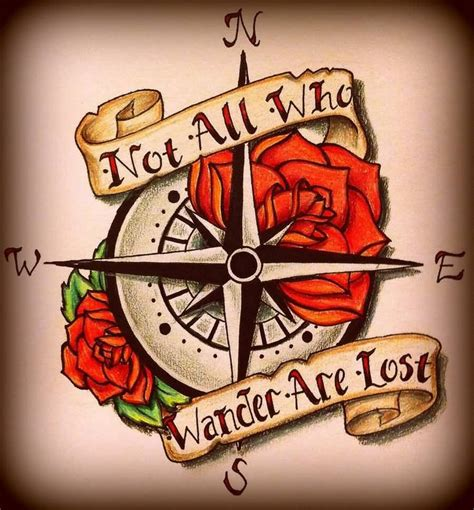 not all those who wander are lost tattoo 20 best not all those who wander are lost designs