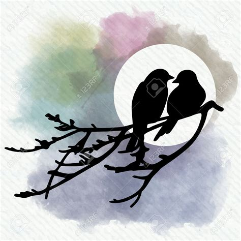 Two Birds two birds silhouette clipart clipground