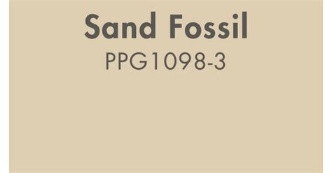 sand fossil ppg1098 3 from ppg pittsburgh paints one of the most commonly used paint colors