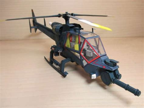 Helicopter Papercraft - papercraftsquare new paper craft blue thunder