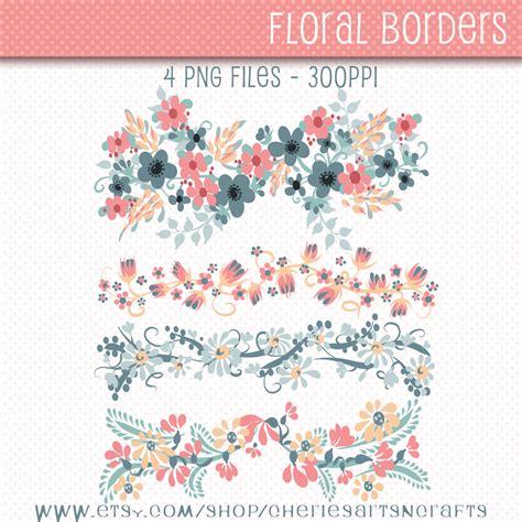 Hem Batik Flores digital floral borders flowers clip digital borders
