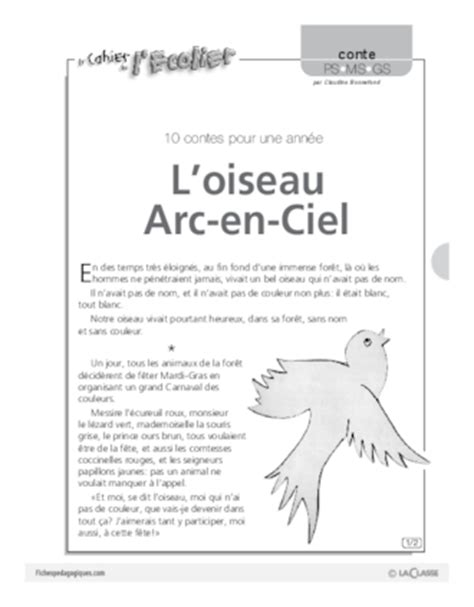 vasion larc en ciel lectures en l oiseau arc en ciel conte fichesp 233 dagogiques com