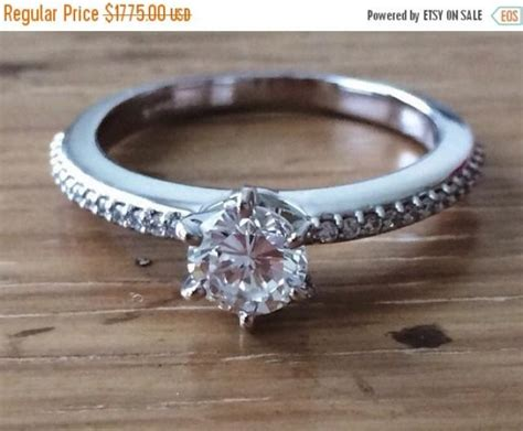 Via S Handcrafted Jewelry - sale 1 carat solitaire engagement ring