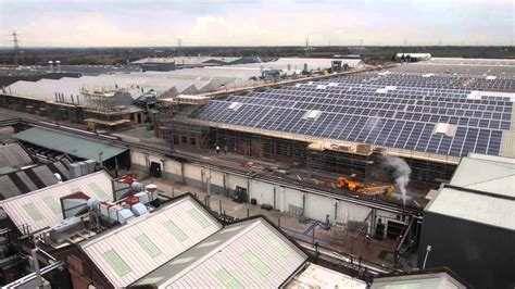 bentley crewe bentley motors at crewe installing solar panels