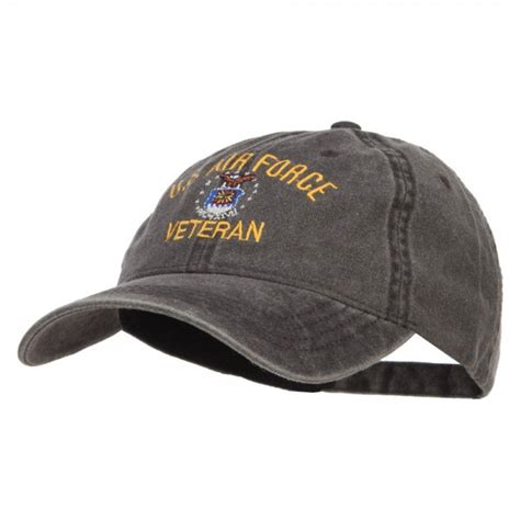 Us Air Forces Cap Black embroidered cap black us air veteran washed cap