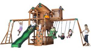 Skyfort Ii Cedar Swing Set backyard discovery swing set playset playhouse house and garden manuals library