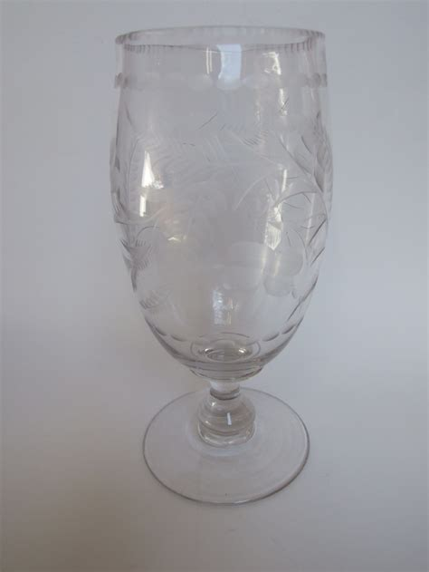 Antique Celery Vase by A Stylish Cut Glass Celery Vase 239616