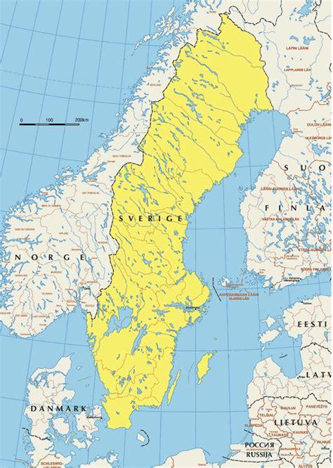 deutschland schweden landkarte schweden landkarten gt schwedenkarte