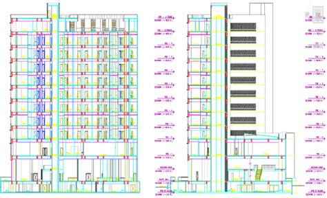 Construction House Plans by Autocad Design For 5 Star Hotel Building