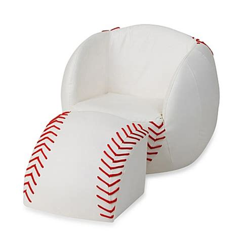 baseball chair and ottoman gift mark baseball chair ottoman set bed bath beyond