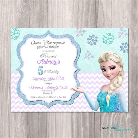 printable frozen birthday party invitations frozen birthday invitation frozen printable by styleswithcharm