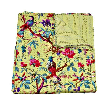 Quilted Bed Covers And Throws by 17 Best Images About Kantha Quilts Throws Handmade