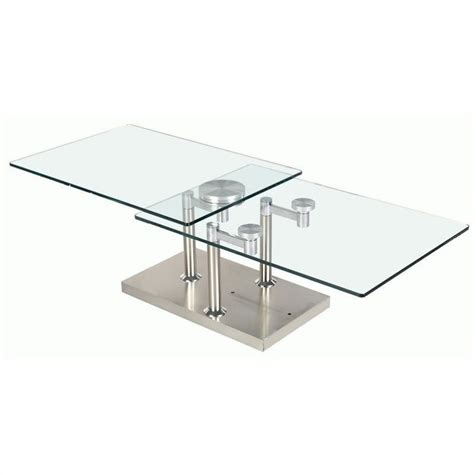 chintaly rectangular clear glass cocktail table in