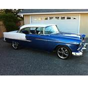 1955 CHEVROLET BEL AIR CUSTOM 2 DOOR HARDTOP  Front 3/4 154256