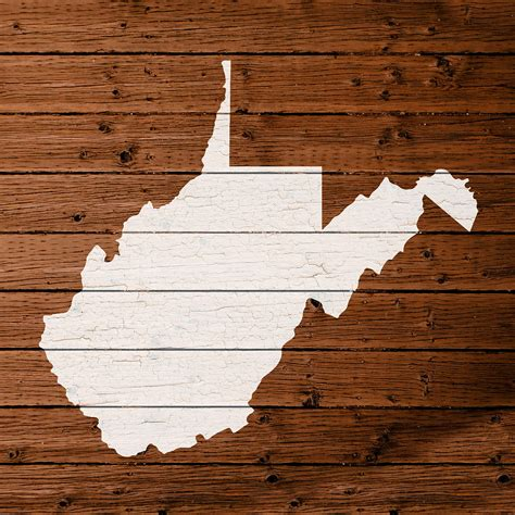 virginia woodworking map of west virginia state outline white distressed paint