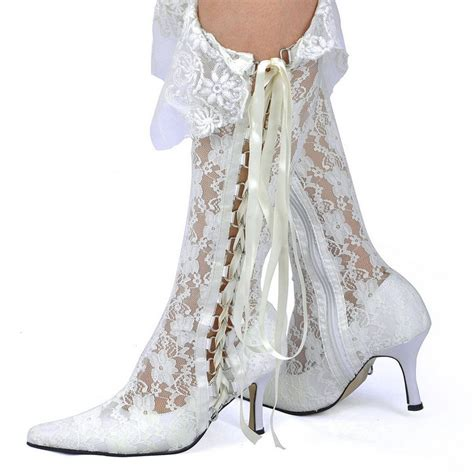 white wedding boots white wedding lace boots versatile closing