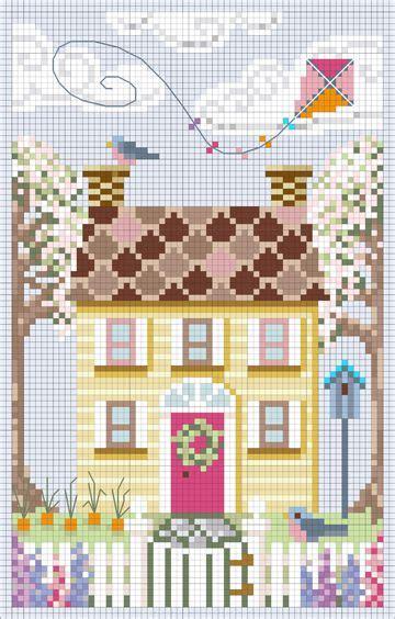 a house for all seasons kanevi 231 e cross stitch picmia