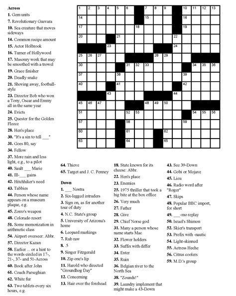 printable puzzle free printable crossword puzzles easy for kids adults
