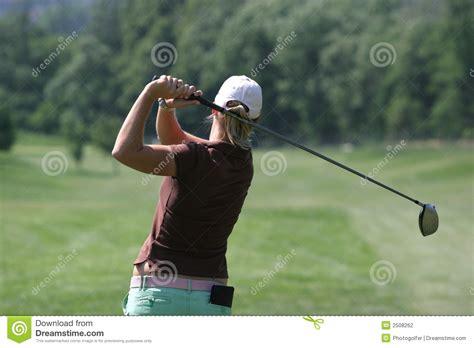 lady golf swing lady golf swing stock photography image 2508262