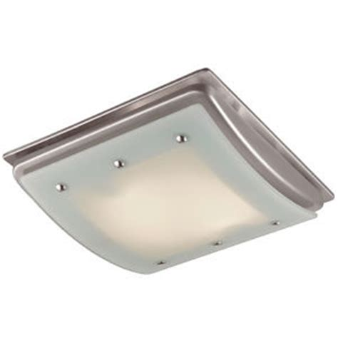 100 Cfm Ceiling Bathroom Exhaust Fan With Light And Heater Qt9093wh The Home Depot Bathroom 100 Cfm Exhaust Fan Light Ceiling Mount Bath Air Vent Brushed Nickel Ebay