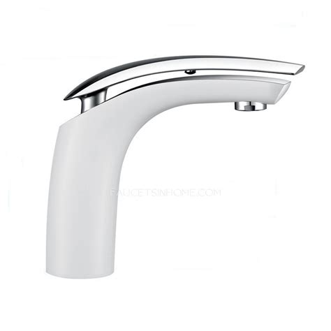 white chrome single lever vessel sink faucet for bathroom