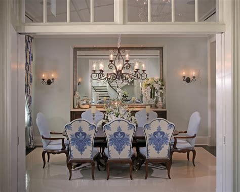 Mirrors For Dining Rooms Dining Room Tropical With Blue Blue And White Dining Chairs