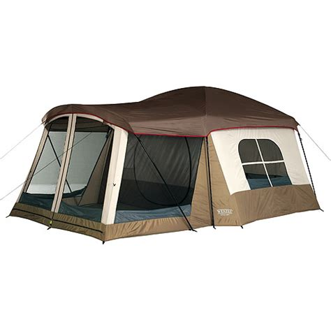 3 bedroom tent with porch wenzel klondike taupe and light gray 8 person tent