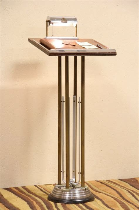 SOLD   Art Deco 1930's Lectern, Podium or Reception Stand