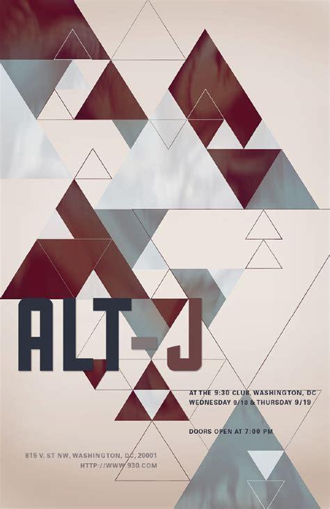 Design Collective alt j concert poster sara wickersham s online portfolio