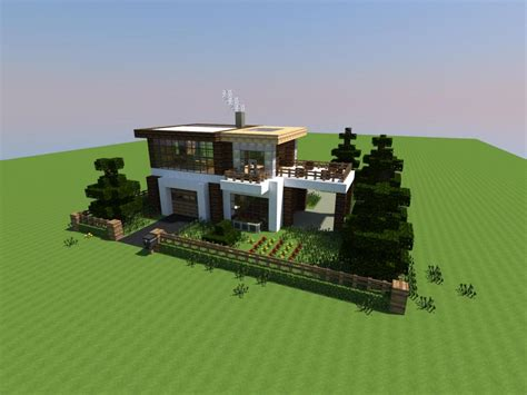 modern house minecraft tweet