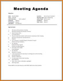 7 meeting agenda templates divorce document