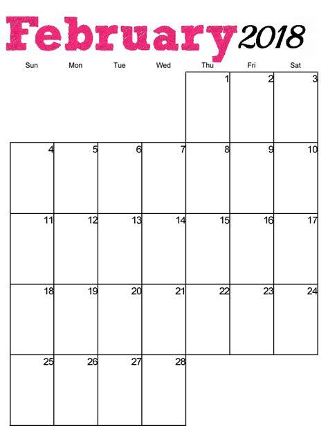 printable calendar 2018 horizontal free printable 2018 vertical monthly calendar calendar 2018