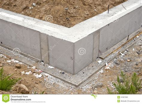 new home foundation new home foundation base construction stock photo image