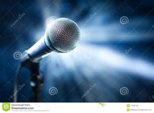 Microphone on stage stock photography image 14145752