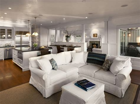 white sectional living room slipcovered sectional cottage living room
