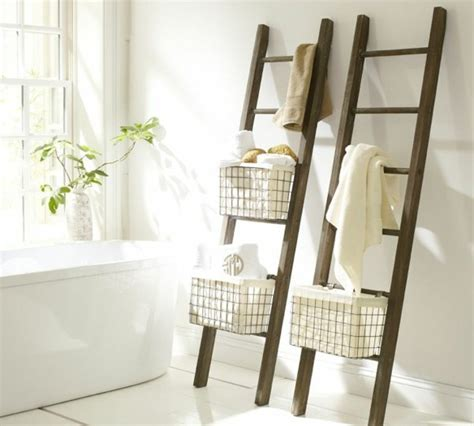 the wooden ladder as a modern part of the interiors