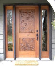 Traditional Front Doors Design Ideas Mahogany Entrance With Carved Door Traditional Front Doors Minneapolis By Woodmax Llc