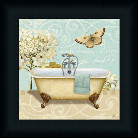 wall art bathroom decor light breeze bath i shabby vintage bathroom framed art print wall d 233 cor picture ebay