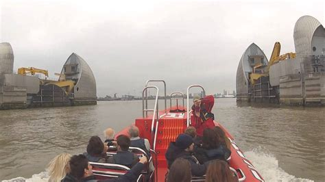 thames barrier video youtube thames rocket break the barrier london rib voyages youtube